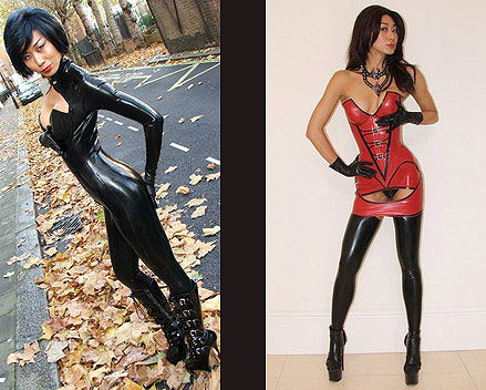 Asian Latex Goddess
