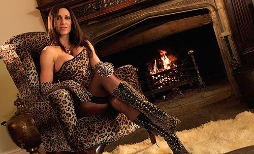 Mistress In Leopard Boots