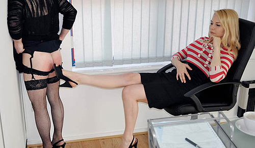 Office sissy humiliation